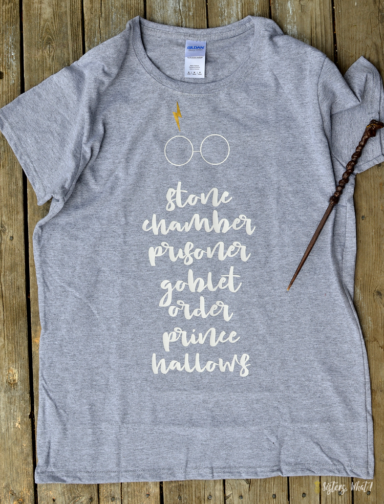 harry potter shirt with harry potter books