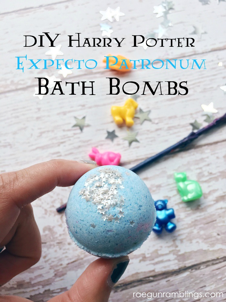 how to make Harry Potter bath bombs DIY tutorial