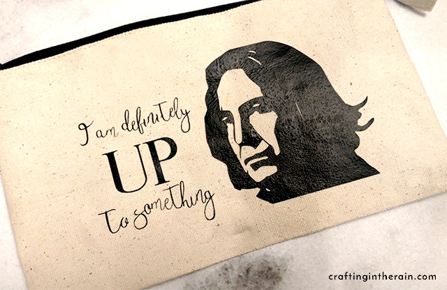 snape quote up to something-DIY pouch