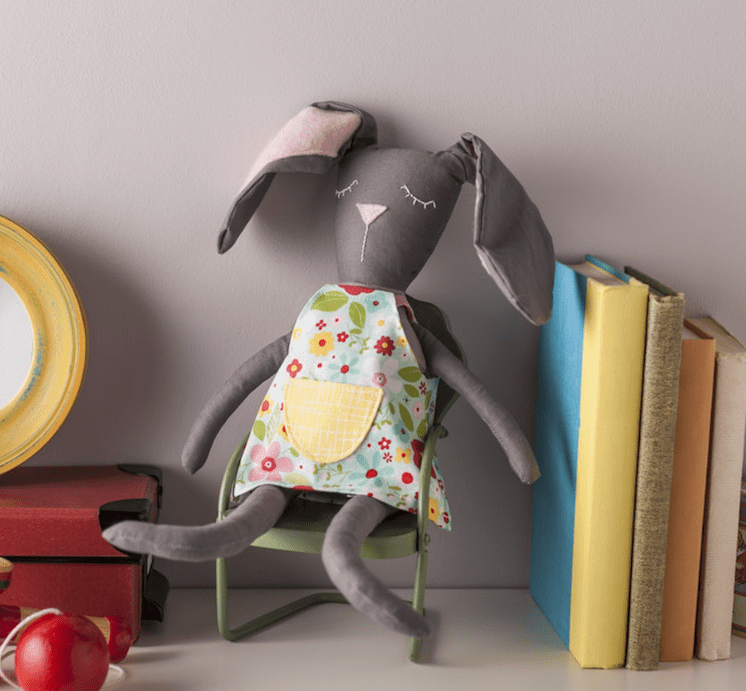 cricut bunny sewing project and pattern