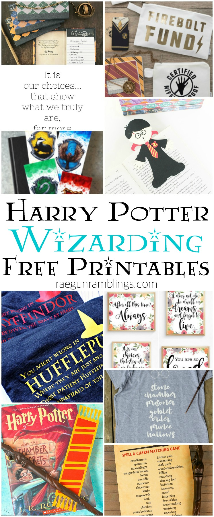 harry potter printables and wizarding quotes and cut files