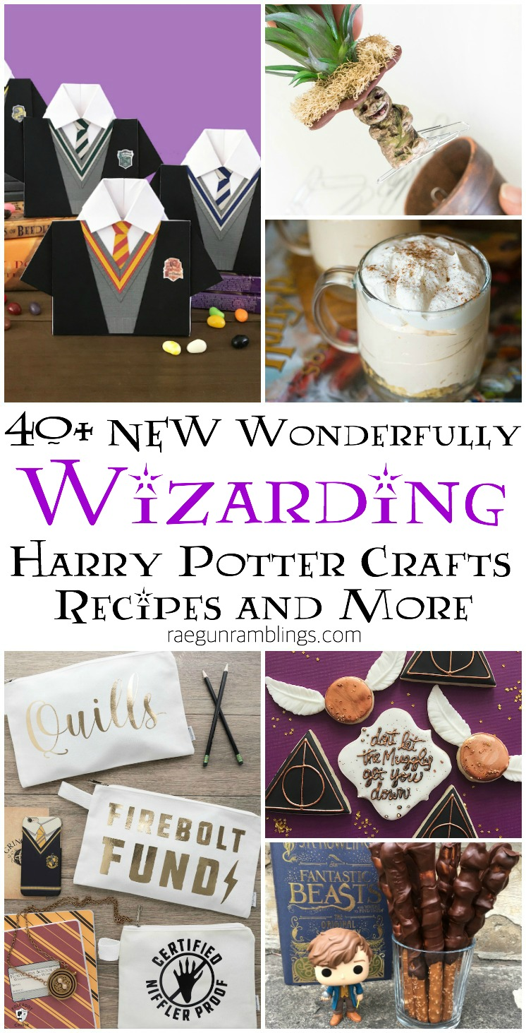 lots of brand new harry potter crafts recipes and more great for wizarding parties