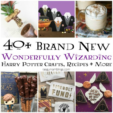 love this tons of NEW harry potter crafts recipes party ideas and files. 40 new ones in this post alone