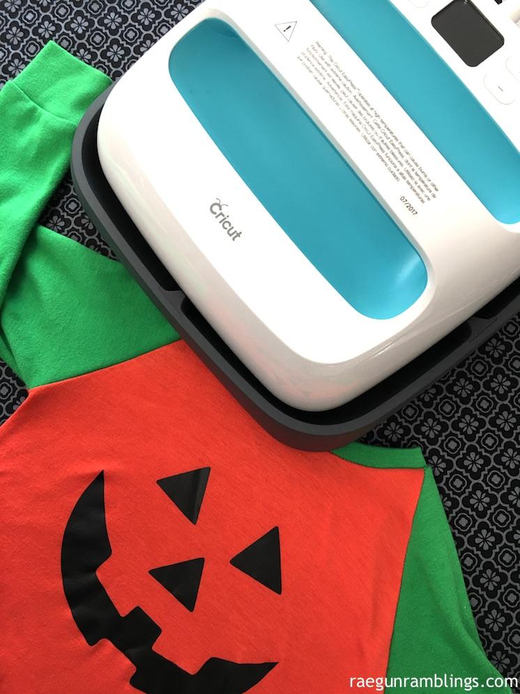 DIY super fast jack-o-lantern shirt plus easypress review