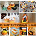great collection of DOABLE candy corn crafts and candy corn recipes