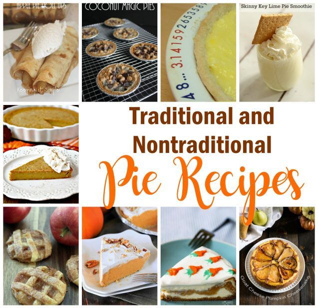 Dessert recipes for Traditional-and-Nontraditional-Pie-Recipes-great for thanksgiving
