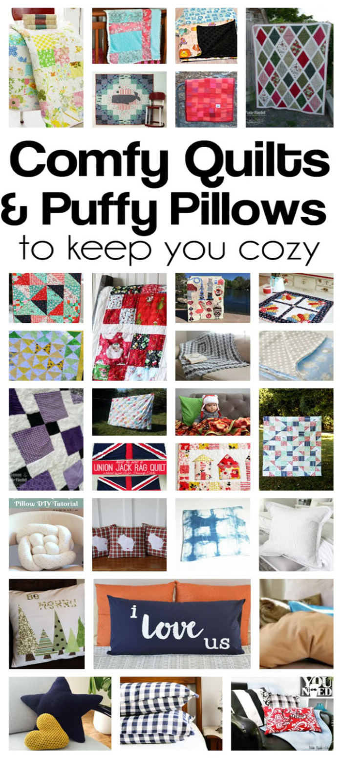 Learn how to make a bunch of awesome quilts and pillow. Great free sewing tutorials.