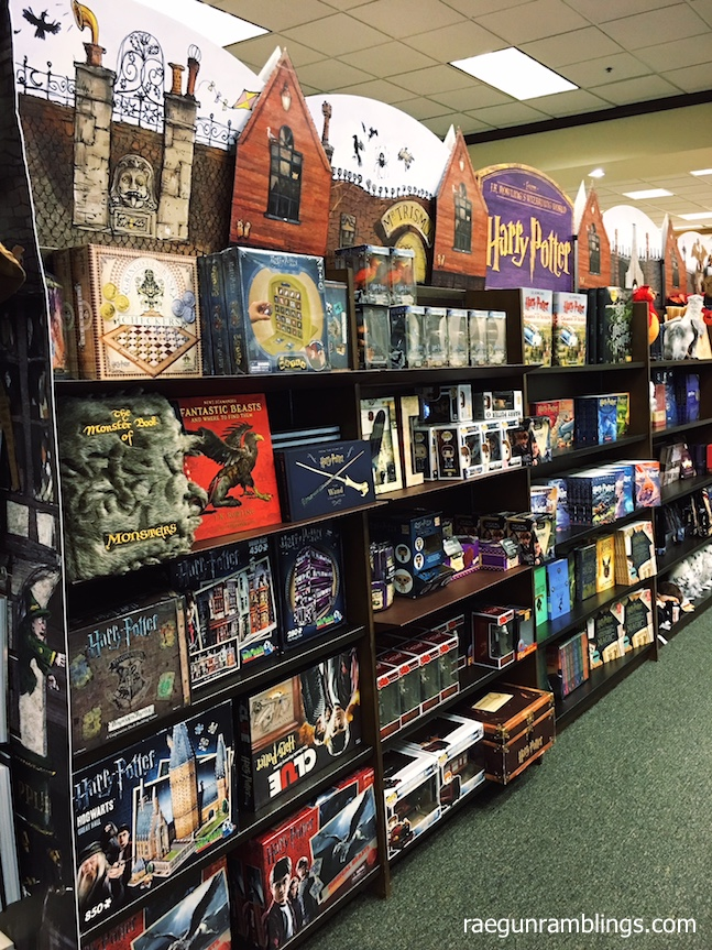 Tons of Harry POtter gifts from Barnes and Noble