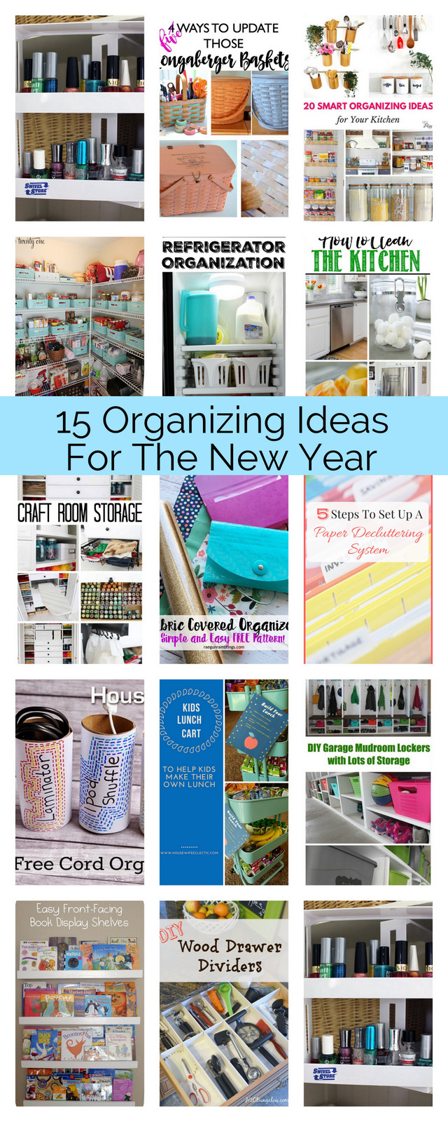 15-Organizing-Ideas for new years and spring cleaning