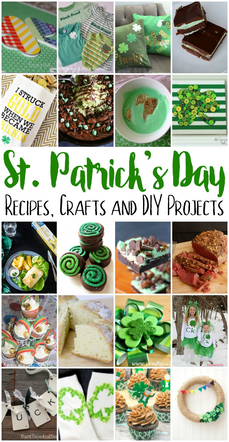 st. Patrick's Day recipes, Crafts and DIY Projects
