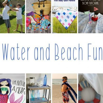 DIY Water Beach Crafts and Link Party