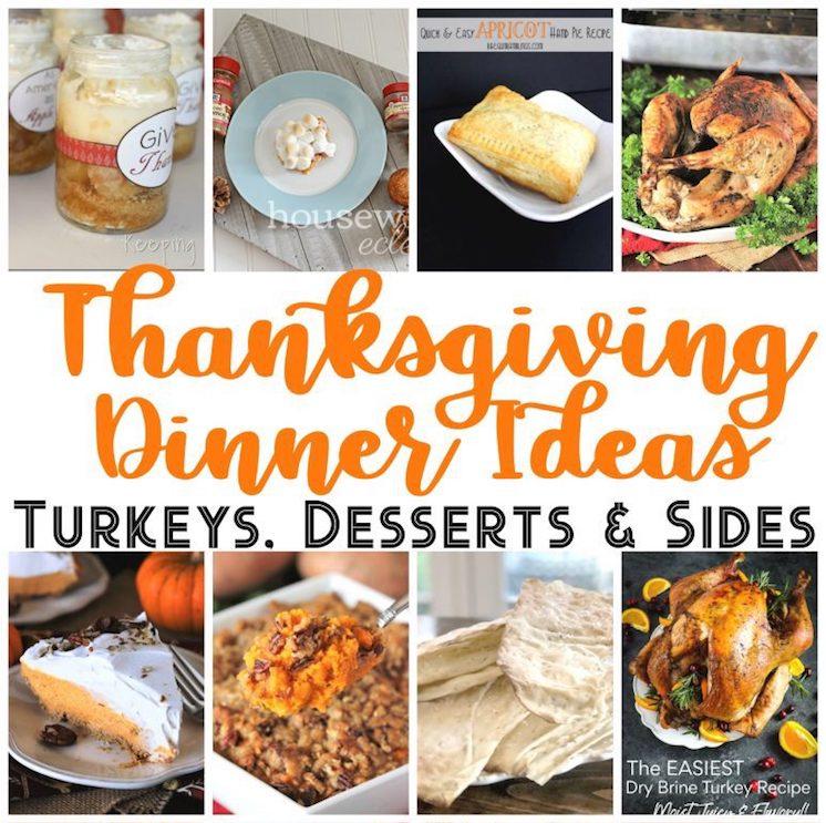 Delicious Thanksgiving Dinner sides desserts turkey recipe
