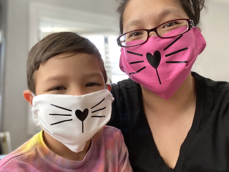 easy cat face mask tutorial