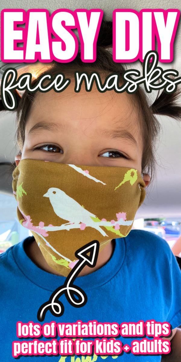 Our family's favorite kids face mask. Fast and simple sewing tutorial with free pattern with variations perfect for active or sensitive kids.