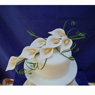 Ivory Calla lily Spray Medium Sugar Calla Lily Wedding Cake Topper Medium Calla lily Spray Cake Topper