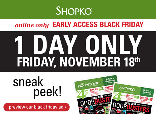 1 Day Only!! Shopko Early Access Black Friday Deals!! Even ...