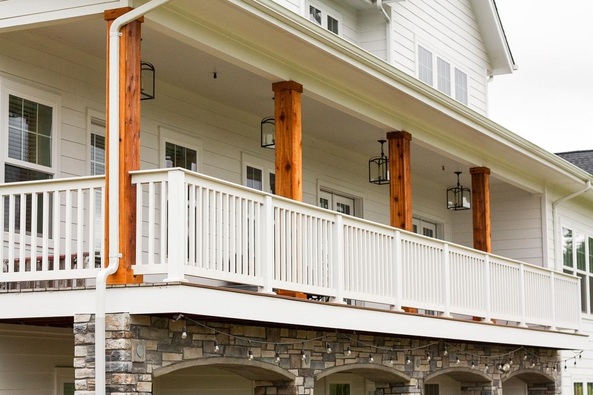 White Pillars Porch