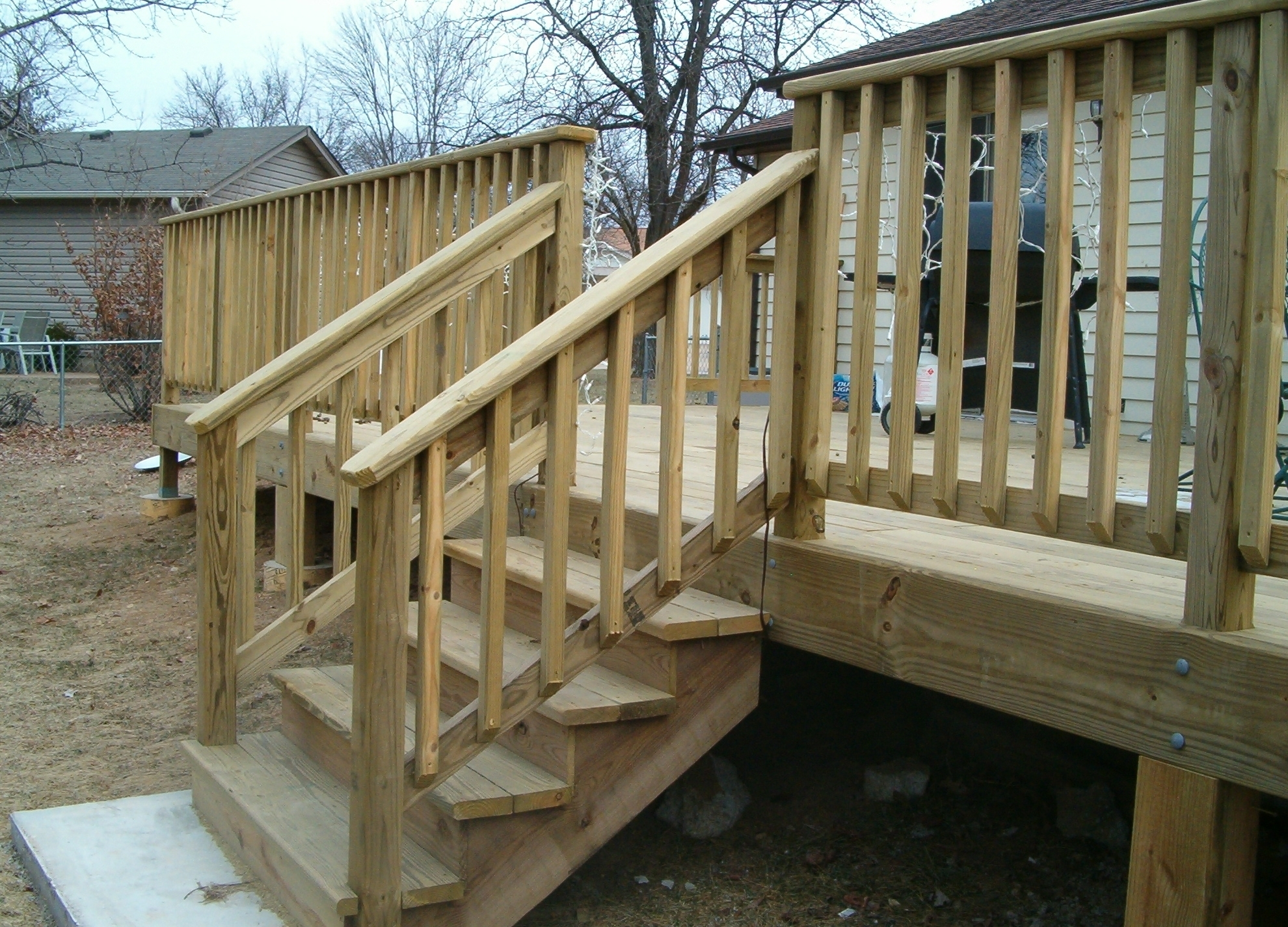 Wooden Handrails For Porch Steps — Randolph Indoor And Outdoor Design | Wooden Handrails For Outdoor Steps | Wall Mounted Wooden | Porch | Outdoor Garden Path | Outdoor Decking | Small