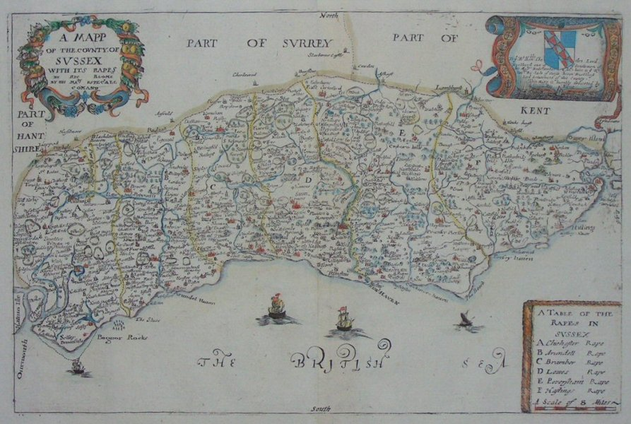 Antique Maps and Prints of Sussex 1 1 1 6