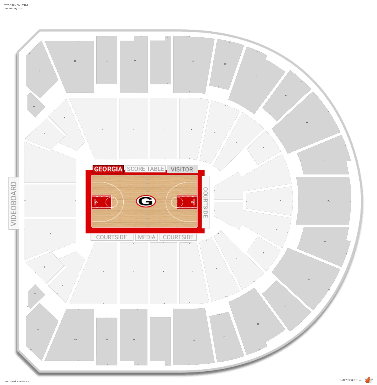 Stegeman Coliseum Georgia Seating Guide Rateyourseats Com
