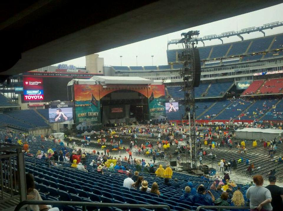 Gillette Stadium Concert Virtual Seating Section 101