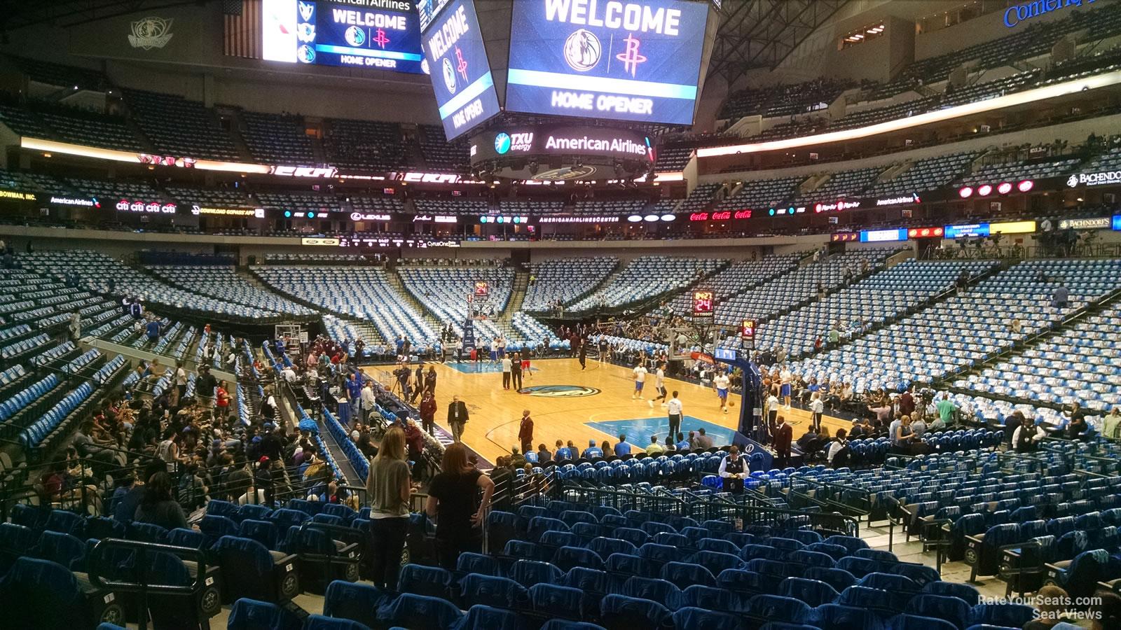 American Airlines Center Section 114 Dallas Mavericks