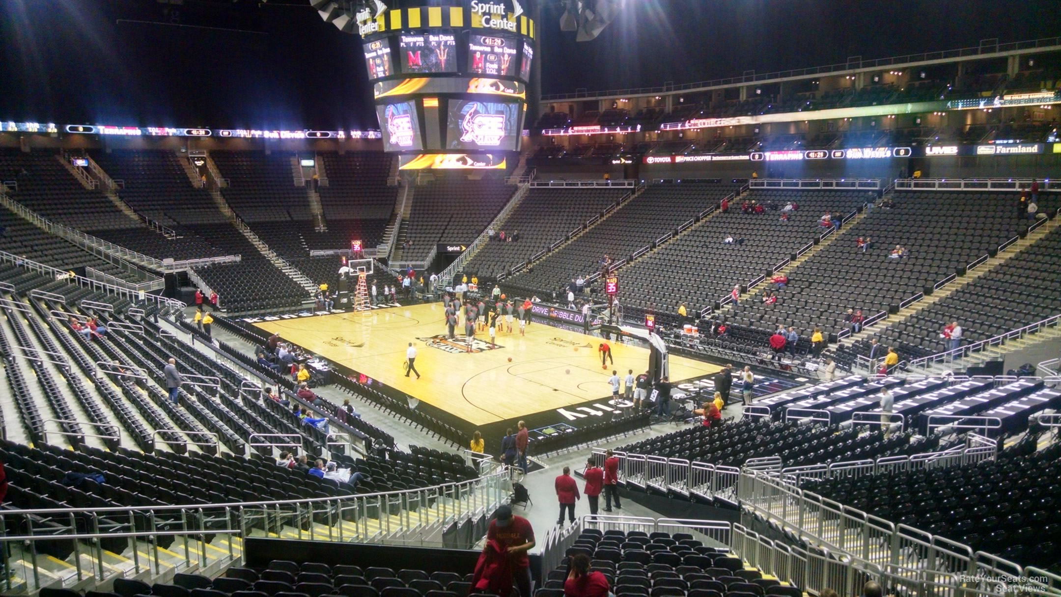 Sprint Center Section 114 Basketball Seating