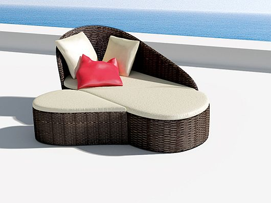 Thailand Outdoor Rattan wicker Daybed DA 3C0002 C   Rattan4ever     Thailand Outdoor Rattan wicker Daybed DA 3C0002 C