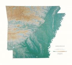 USA States Maps   Lithography and Fine Art Prints   Raven Maps Arkansas Map