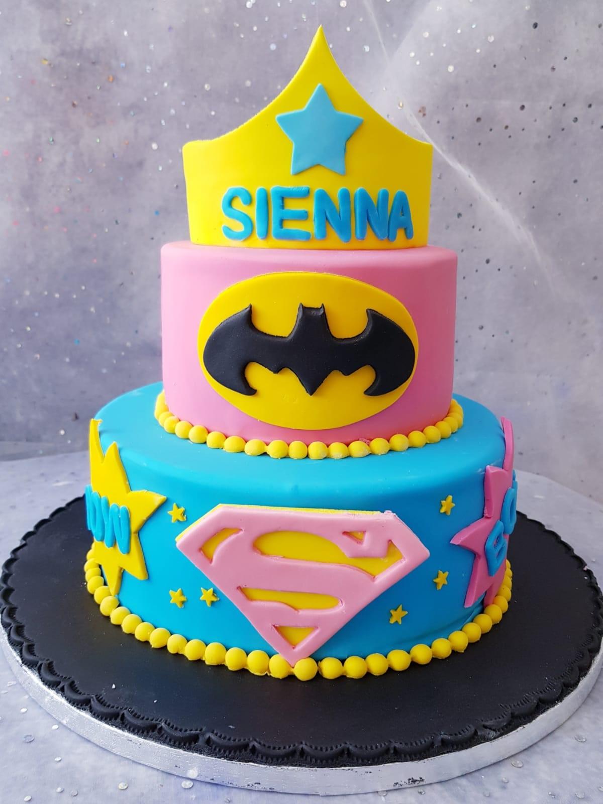 2 Tier Superhero Cake Ravens Bakery Of Essex Ltd