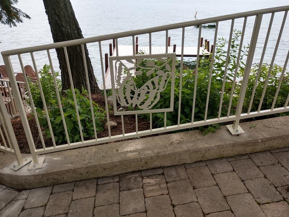 Custom Metal Gates Handrails Metal Decks Welding Fabrication   Metal Handrails For Decks   Patio   Decking   Fence   Pool Deck   Vertical Metal