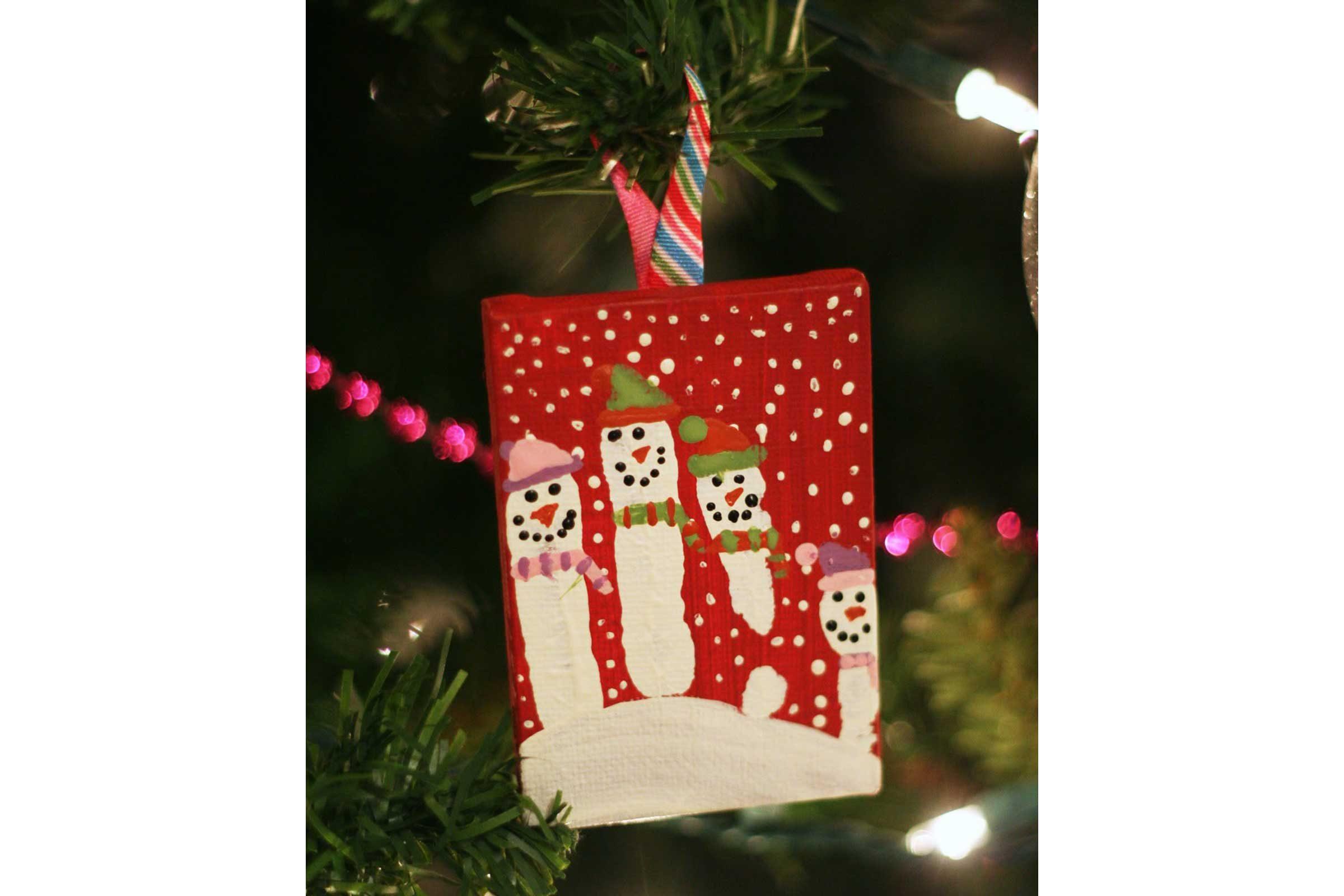 Homemade Christmas Hand Ornaments