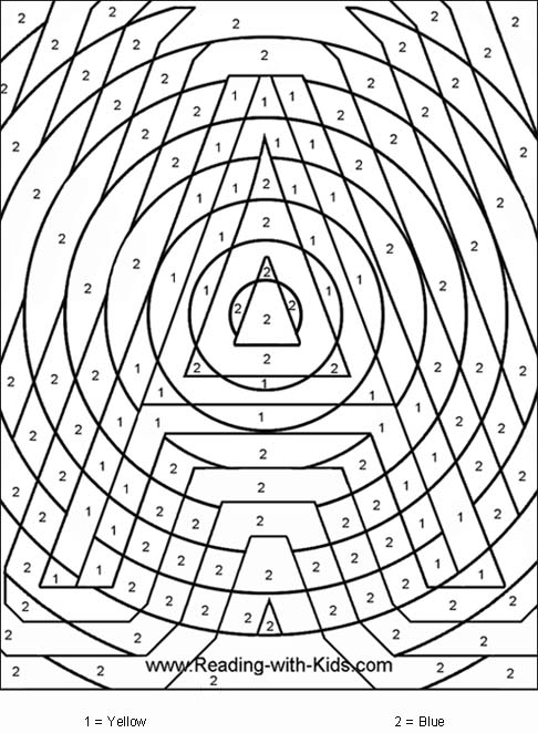 coloring pages by number # 12