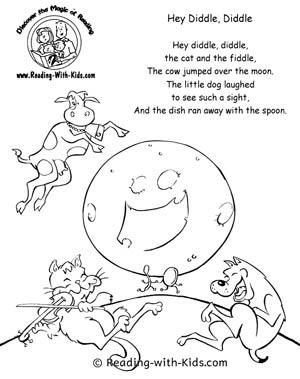 nursery rhyme coloring pages # 8