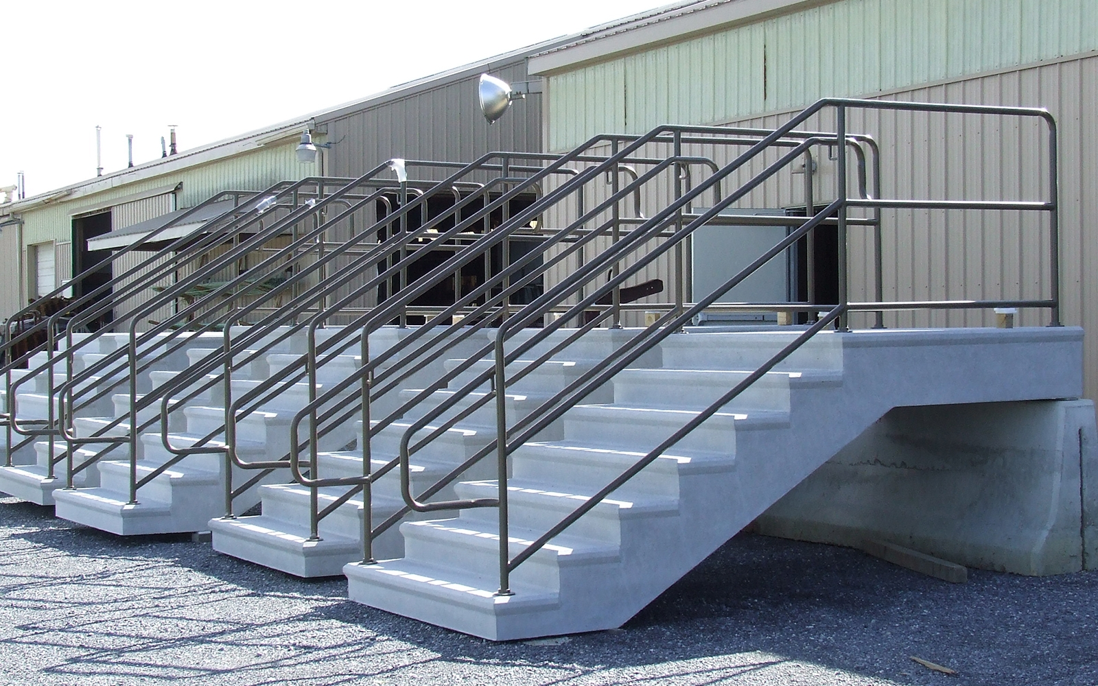 Stair Railings • Reading Precast   Aluminum Handrails For Concrete Steps   Stair   Wood   Front Porch   Back Patio   Mobile Home