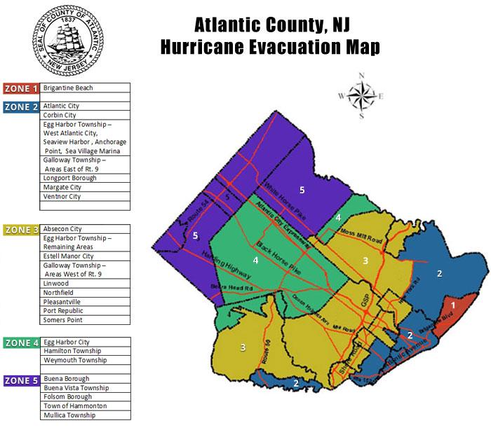 County Evacuation Zone Map