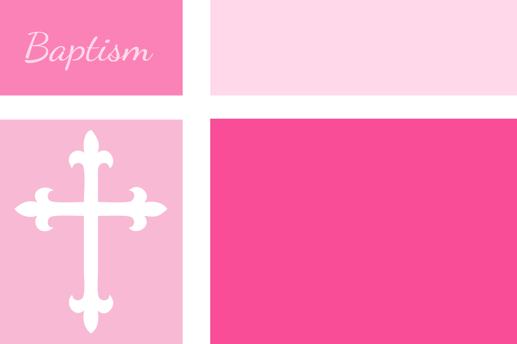 Pink Baptism Invitations