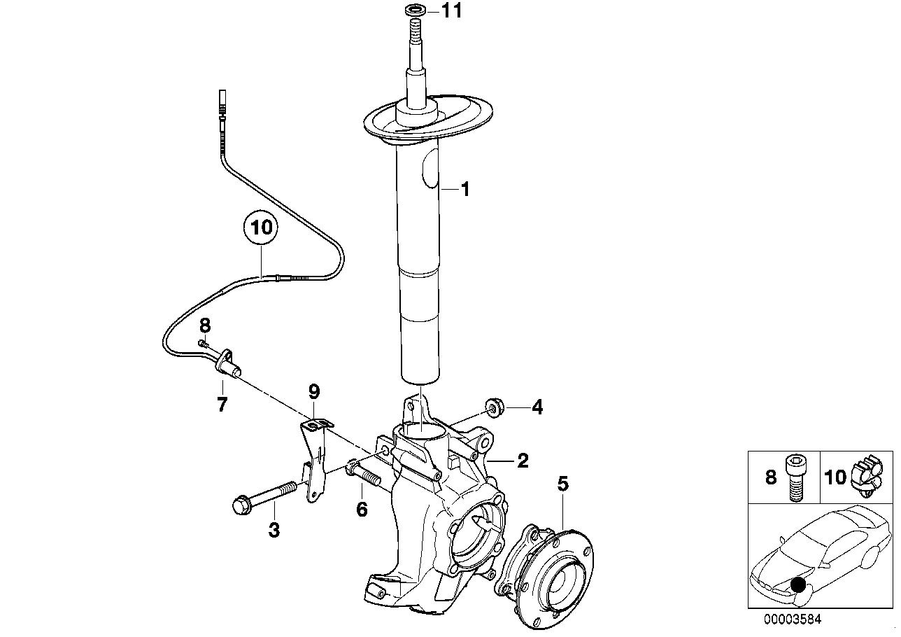 Realoem online bmw parts catalog bmw e39 suspension diagram sla front suspension independent front suspension geometry on e39 front suspension diagram