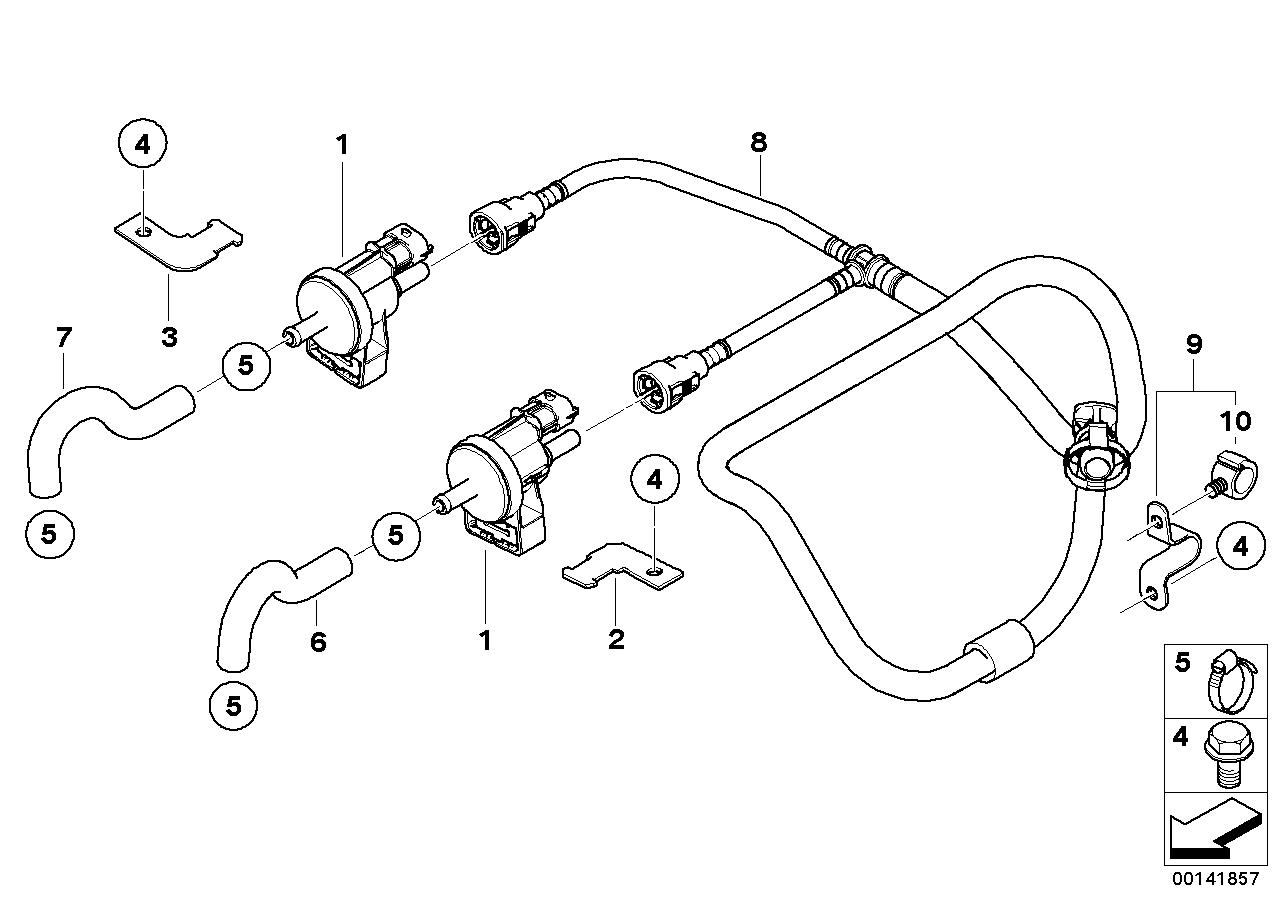 Realoem online bmw parts catalog bmw e60 fuel system diagram fuel tank breather valve