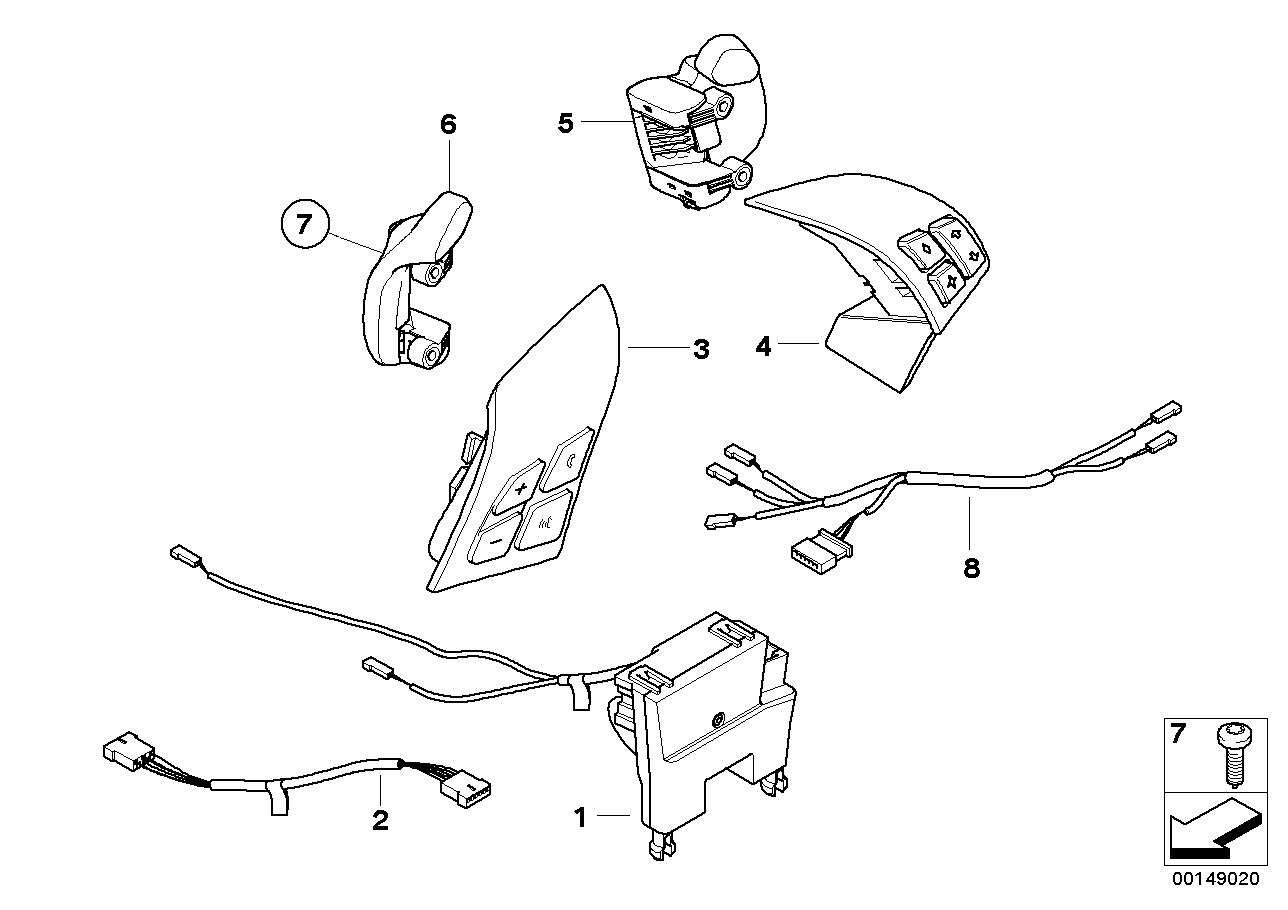 Bmw e39 steering wheel wiring diagram