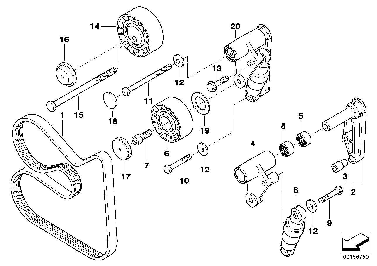 Bmw e36 pulley diagram images gallery