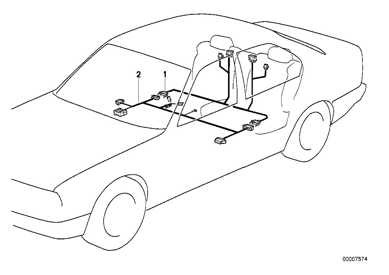 Wiring electr seat adjustment rear
