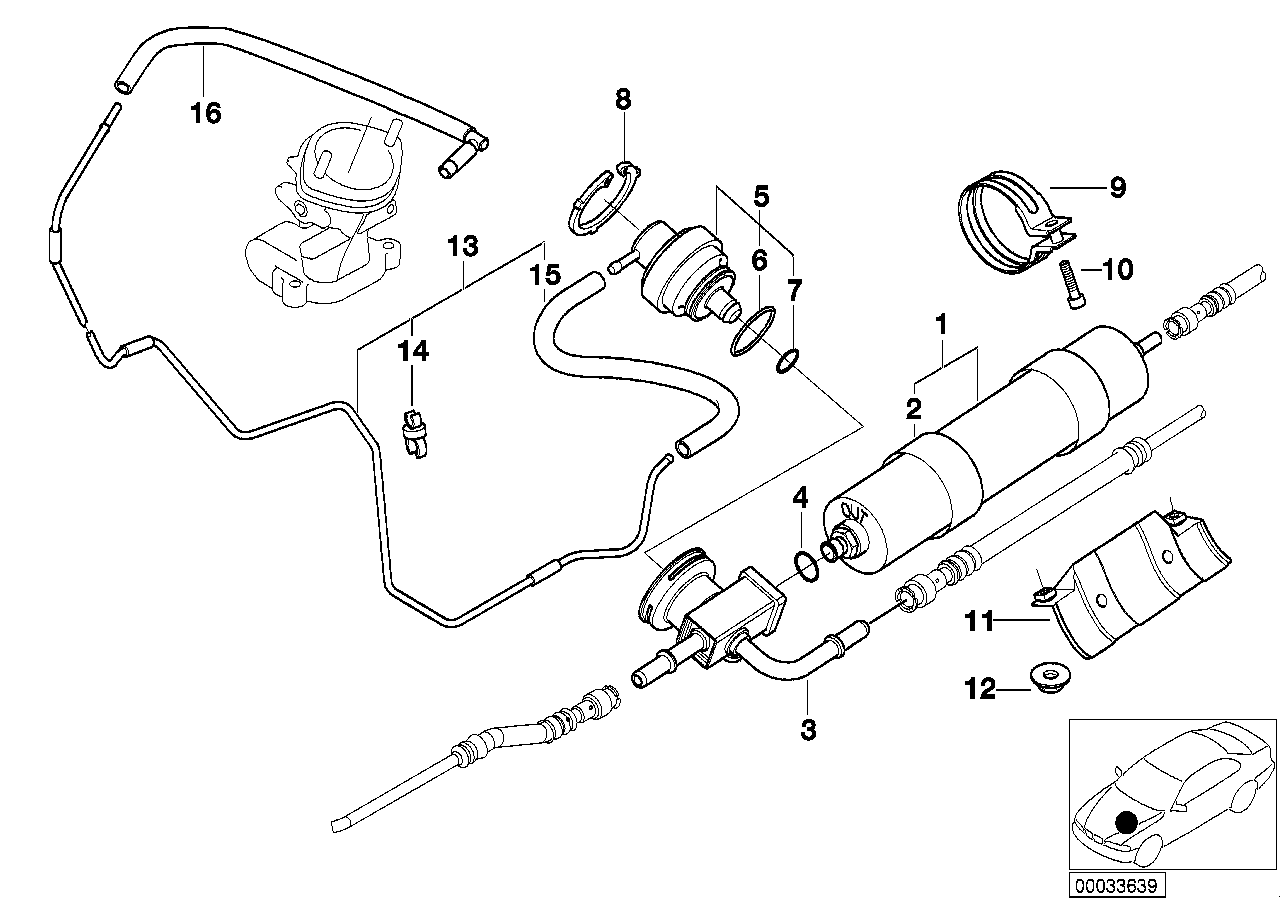 Realoem online bmw parts catalog 7 3 fuel system diagram bmw fuel filter diagram