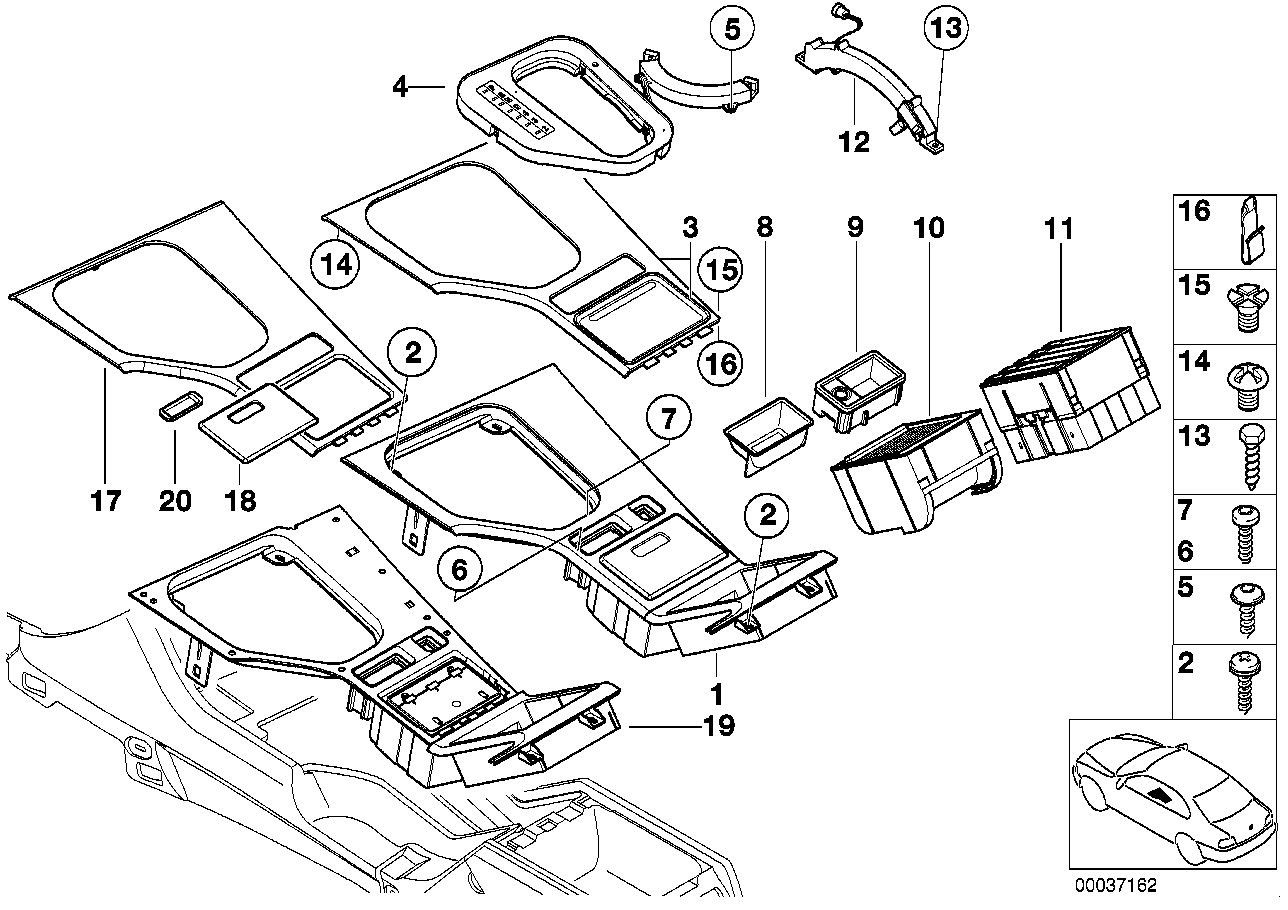 front suspension ponents diagram