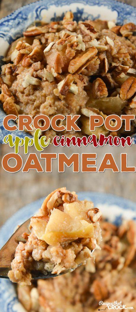 Crock Pot Apple Cinnamon Oatmeal