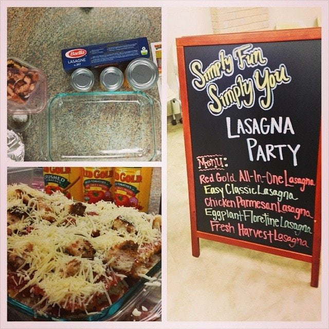 Red Gold Lasagna Party