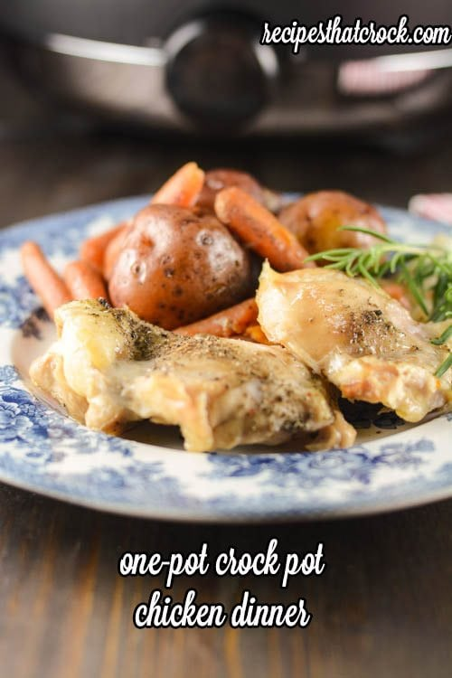 One Pot Crock Pot Chicken Dinner