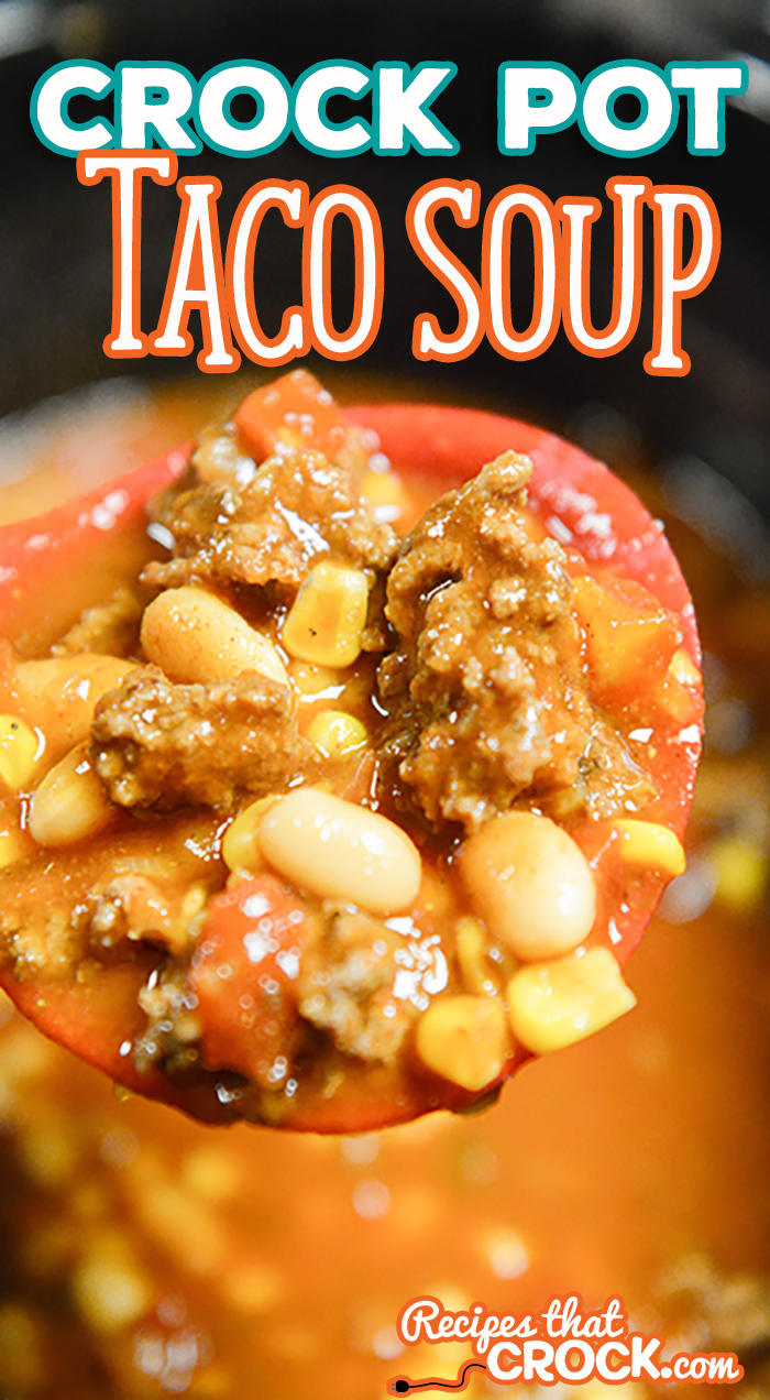 This Easy Crock Pot Taco Soup is so simple to throw together and delicious after a long day! Substitute your favorite beans for special flavor every time!