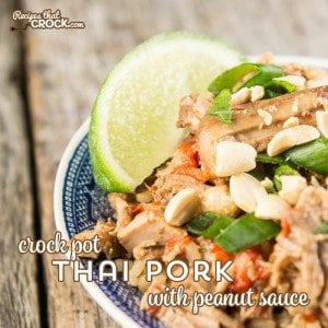 Crock Pot Thai Pork with Peanut Sauce is a tried and true Asian dish submitted by one of our readers!