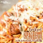 Are you looking for an easy homemade meatball recipe for your spaghetti? Our Crock pot Spaghetti with Homemade Meatballs is so simple to make and oh-so yummy!